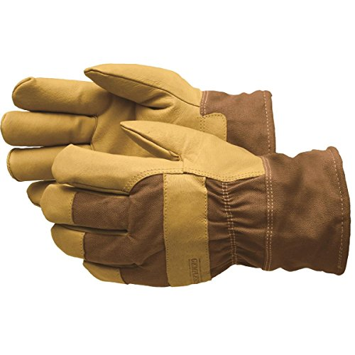 GEMPLER'S Premium Fully Waterproof, Insulated Soft Pigskin Leather Work Gloves, Size XL, with Safety Cuff and HeatKeep Insulation Technology – All-Weather 3-Layer Work Gloves - 1 Pair by GEMPLER'S
