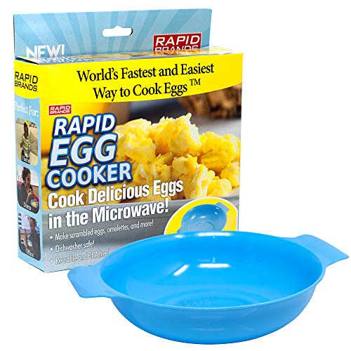 Rapid Egg Cooker | Microwave Scrambled Eggs & Omelettes in 2 Minutes | Perfect for Dorm, Small Kitchen, or Office | Dishwasher-Safe, Microwaveable, & BPA-Free