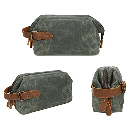 Men for Waterproof Pochette Womens uomo Wallet Bag Checkbook Zhhlaixing Mens Teens Clutch Green Purse Canvas Wallet U7nW7Tq