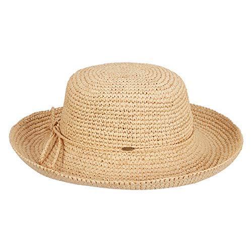 9b8159d9864662 Scala Women's Crocheted Packable Raffia Hat,Natural,57cm