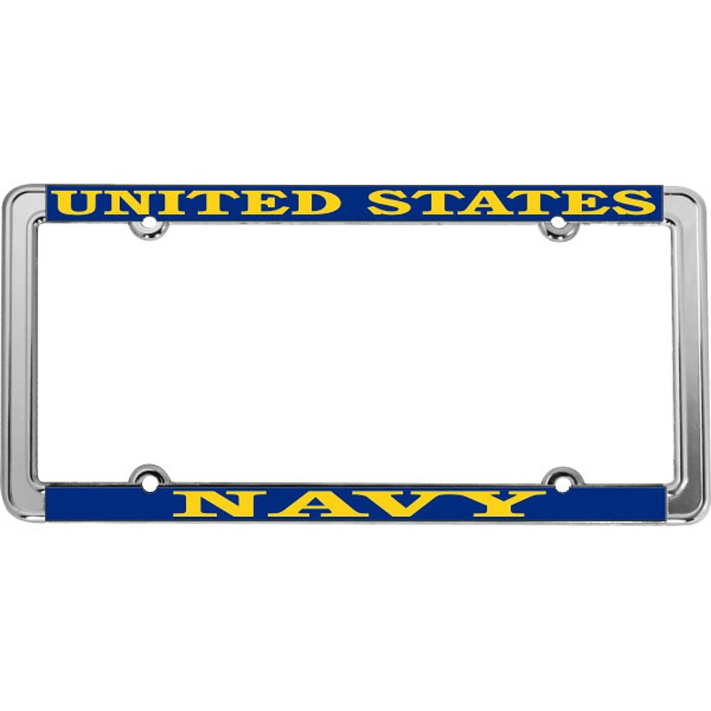 Honor Country United States Navy License Plate Frame Thin Rim