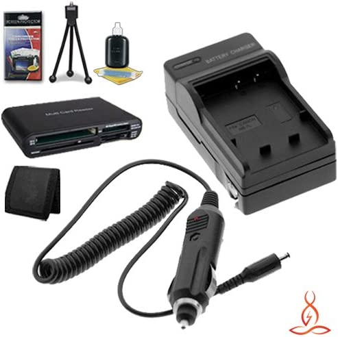Memory Card Wallet Multi Card USB Reader Deluxe Starter Kit for Canon EOS 5D Mark II 22.0 MP Digital SLR Camera and Canon LP-E6 Halcyon Brand 600 mAH Charger with Car Charger Attachment Kit