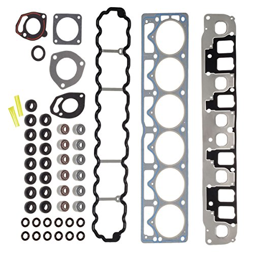 Jeep Gasket Head - Cylinder Head Gasket Set HS9076PT-4 Compatible with Jeep Cherokee and Grand Cherokee and TJ & Wrangler 1999-2003 4.0L L6