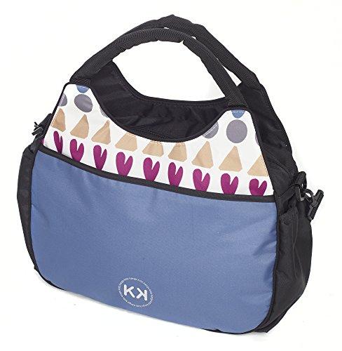 Kids Kargo Bolso cambiador con accesorios (Francés Aqua) Dooglebug Blueberry