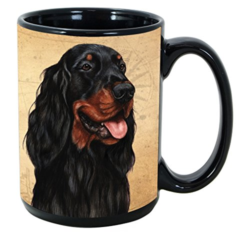 Imprints Plus Dog Breeds (E-P) Gordon Setter 15-oz Coffee Mug Bundle with Non-Negotiable K-Nine Cash (gordon setter ()