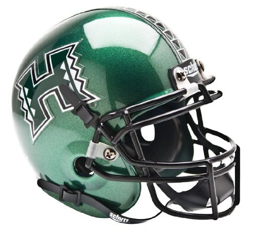 Warriors Helmet Hawaii (HAWAII RAINBOW WARRIORS NCAA AUTHENTIC MINI 1/4 SIZE HELMET by Schutt)