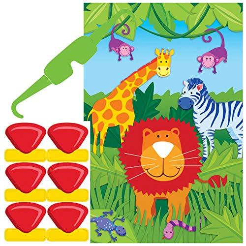 amscan Fun Jungle Animals Pin The Nose Birthday
