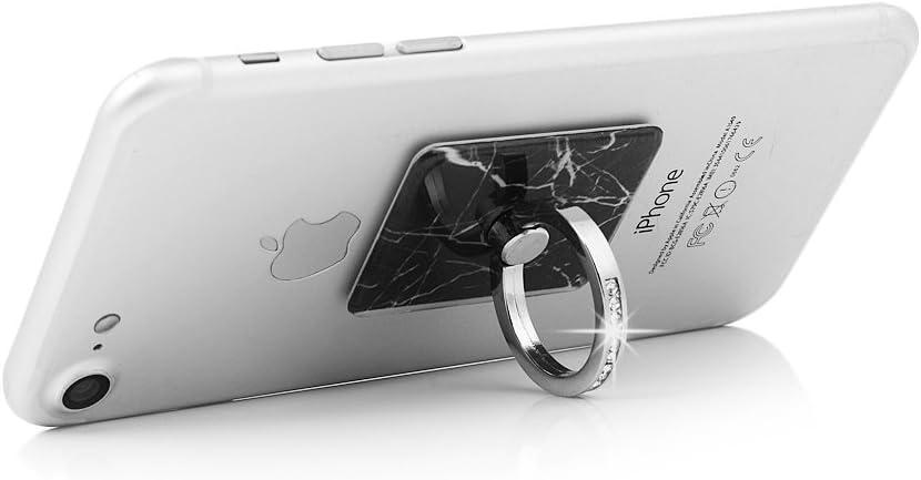 Sliver /& Rose Gold Maviss Diary 2 Pcs Ring Stand Holder Transparent Cat Universal 360 Degree Rotating Phone Metal Buckle Tablet Finger Grip Kickstand for All Phones Tablets