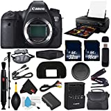 Canon EOS 6D DSLR Camera (Body Only) International Version (No Warranty) + Epson SureColor P800 Inkjet Printer + 16GB & 32GB SDHC Class 10 Memory Card + Carrying Case Bundle