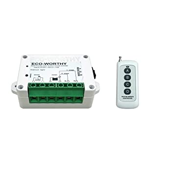 ECO-WORTHY DC12 / 24V Wireless-Positive Inversion Remote ...