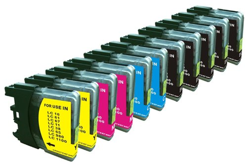11 Pack Compatible Cartridges for Brother LC-61 Includes Cartridges for 5ea CL-61 Black 2ea LC-61 Cyan 2ea LC-61 Magenta 2ea LC-61 Yellow