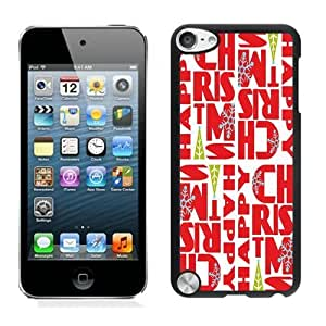 Personalized Merry Christmas Black iPod Touch 5 Case 12
