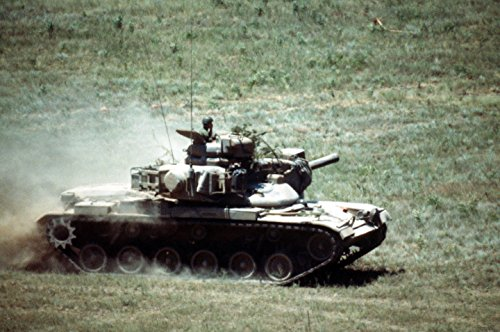 Firing Tank Battle (Home Comforts Canvas Print an M60A2 Main Battle Tank (MBT) maneuvers into Position on The Firing Range During a Firepower Demon Stretched Canvas 10 x 14)