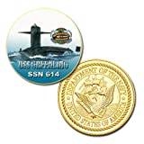 U.S Navy USS Greenling (SSN-614) printed Challenge coin