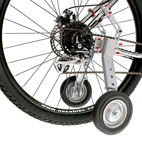 CyclingDeal Adjustable Adult and Kids Bicycle Bike Training Wheels Fits 24