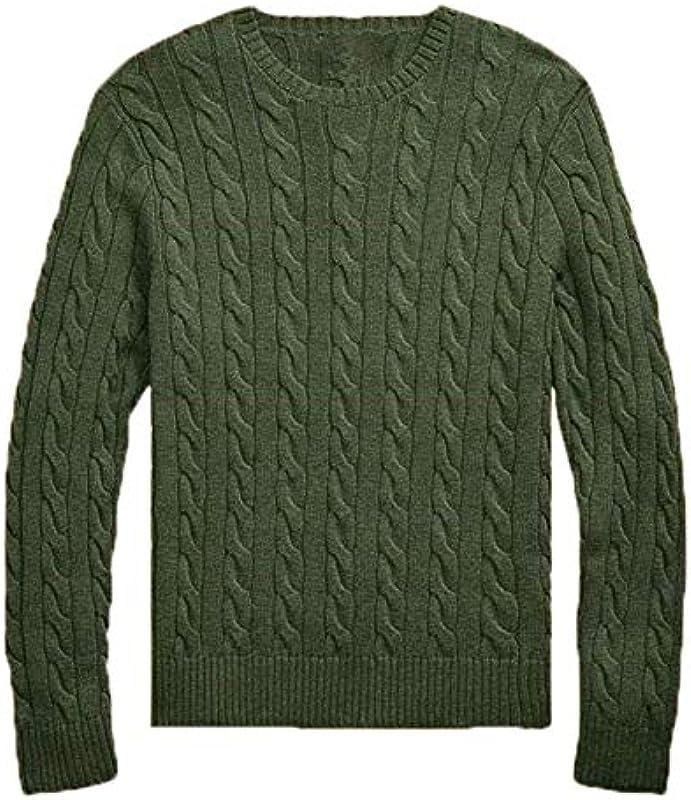 Męski sweter z dzianiny O-Neck Wool small Horse Twisted Sweater Autumn Winter Jersey Jumper: Odzież