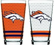 NFL Denver Broncos Mixing Glass, 2-Pack