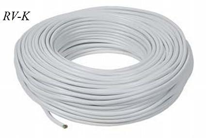 Cable eléctrico (más opciones: clic aquí); Manguera acrílica blanco RV-K