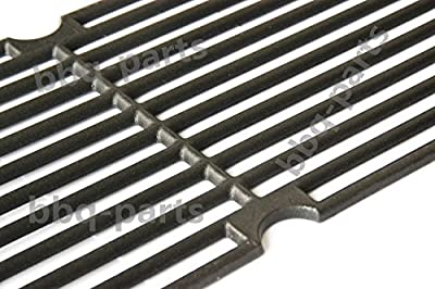 "Hongso PCG241 (1-Pack) Universal Gas Grill Grate Cast Iron Cooking Grid Replacement for Kenmore 148.16656010, Master Forge SH3118B (17 5/8"" x 8 3/4"")"