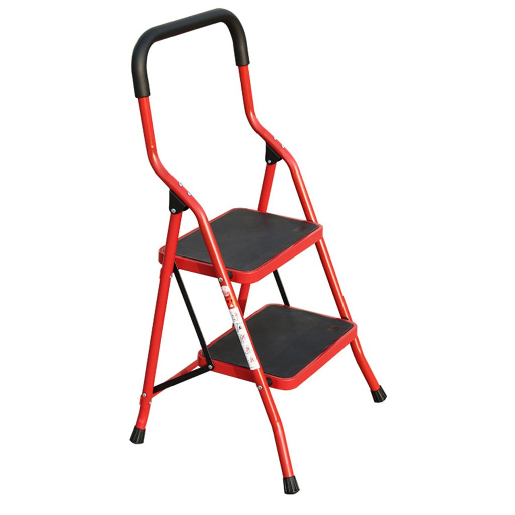 B 3step LIYONG Ladder Household Folding Ladder Lift Ladder Thickened Pedal (color   A, Size   3step)