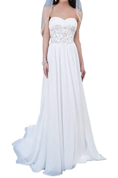 Milano Bride Affordable Beach Wedding Dress Strapless Empire Waist