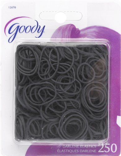Price comparison product image Goody Classics Rubberband, Black, 250 Count