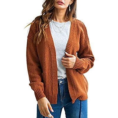 URIBAKE ? Women's Cardigan Winter Autumn Knited Long Sleeve Solid Open Front Sweaters Casual Outerwear