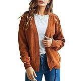 Limsea 2018 Women's Casual Long Sleeve Open Front Cardigan Knitwear Sweaters Outerwear(Brown,X-Large)