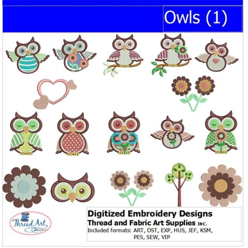 owl embroidery design - 8