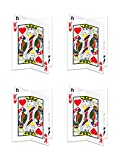 Beistle 54924 4 Pieces 3-D playing card Centerpieces, 12'', , Multicolored