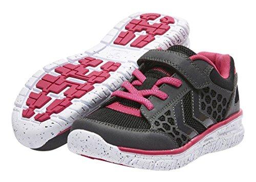 Hummel Crosslite Jr, Zapatillas Deportivas Para Interior Unisex Niños Negro (Bright Rose)