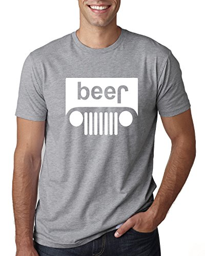 Wild Bobby Beer Logo | Cars and Trucks Parody Humor Alcohol | Mens Drinking Tee Graphic T-Shirt, Heather Grey White, - Alcohol T-shirt Beer