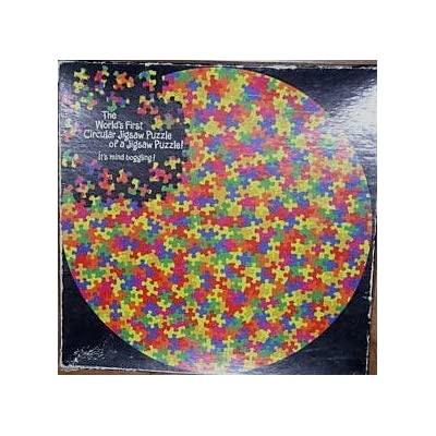 The World's First Circular Jigsaw Puzzle of a Jigsaw Puzzle: Toys & Games