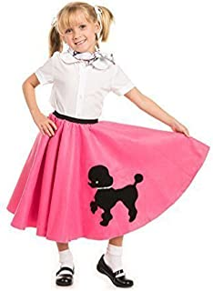 Kidcostumes Poodle Skirt with Musical Note printed Scarf Hot Pink by  sc 1 st  Amazon.com & Amazon.com: Poodle Skirt for Girls: Clothing