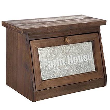 Amazon Com Generic Farmhouse Bread Box For Kitchen Counter