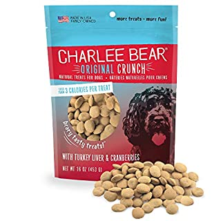 Charlee Bear Original Dog Treats, Turkey Liver & Cranberries, 16 oz