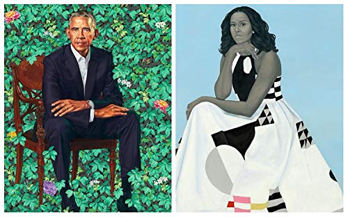 Shop Kazal Official Portrait of President Obama and Michelle Obama Poster Print 18 X 12 Two in one Custom ()