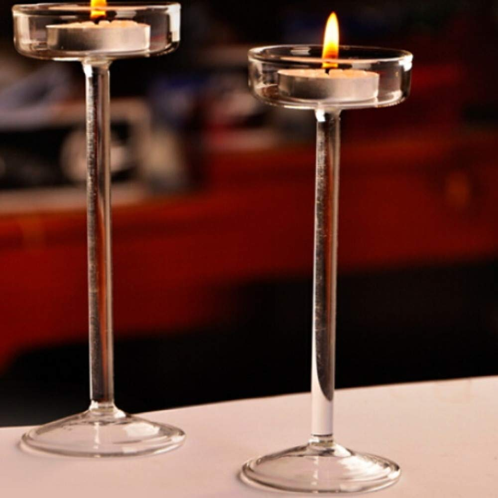Gelaiken Candlestick Candle Holder European Style Glasses Candle Holders Candelabra 1pc, Candlestick Decorated Table Centre Christmas Decoration for Anniversary Celebration Coffee