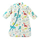 EsTong Unisex Baby Sleepsack Wearable Blanket Cotton Sleeping Bag Long Sleeve Nest Nightgowns Dinosaur/3.5 Tog L/2-4 Years