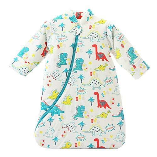 EsTong Unisex Baby Sleepsack Wearable Blanket Cotton Sleeping Bag Long Sleeve Nest Nightgowns Dinosaur/3.5 Tog S/6-12 Months