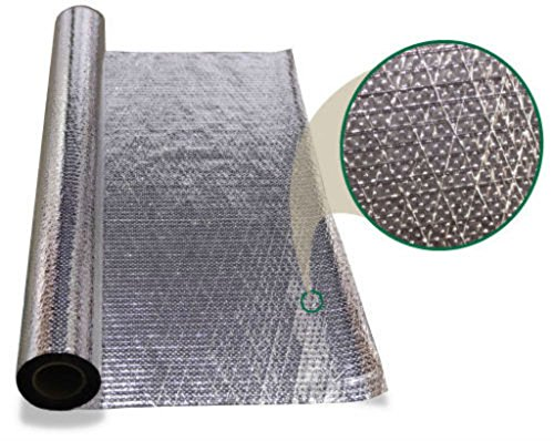 1000 sqft Diamond Radiant Barrier Solar Attic Foil Reflective Insulation 4x250 by AES