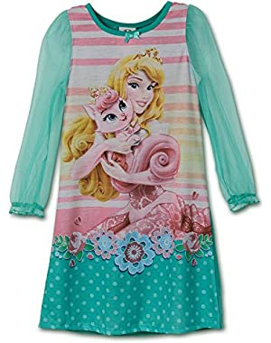 Little Girls Princess Palace Pets Toddler Gown, Nightgown sizes 2T-4T