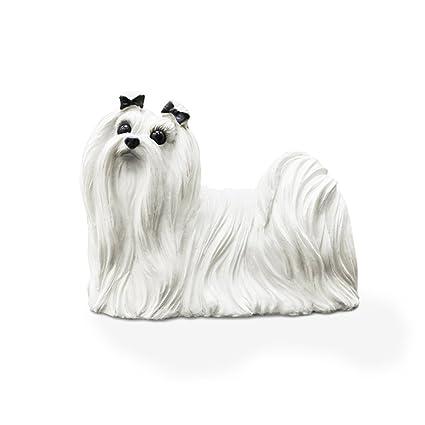 Amazon Com Sunchamo Genuine Maltese Dog Simulation Dog Models Car