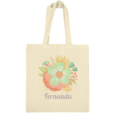 e46b6f2d6d5c Amazon.com: Illustration Floral Bag Fernanda: Canvas Bargain Tote ...