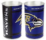 Baltimore Ravens 15 Waste Basket - Licensed NFL Football Merchandise