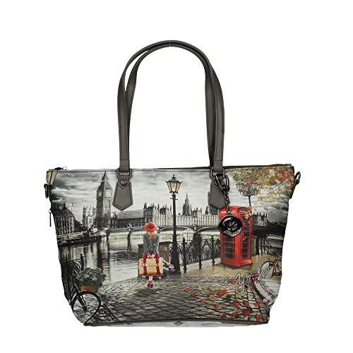 Y NOT?? K-396 Shopper Mujer London Print