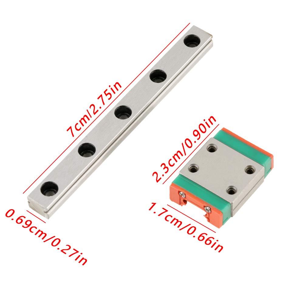 1 pz LWL7B Miniature Guide lineari 7mm Larghezza Slide Block 70mm