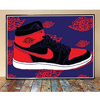 first rate stable quality sale online Amazon.com: Air Jordan 1 Bred Art Print: Posters & Prints