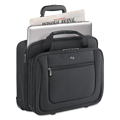Rolling Laptop Case, Polyester, 17 x 10 x 15, Black by U.S. LUGGAGE (Catalog Category: Computer/Supplies & Data Storage / Notebook/PDA & Mobile Computing Accessories) by U.S. Luggage