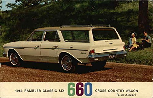 1963 Rambler Classic Six 660 Cross Country Wagon Cars Original Vintage Postcard 660 Cross